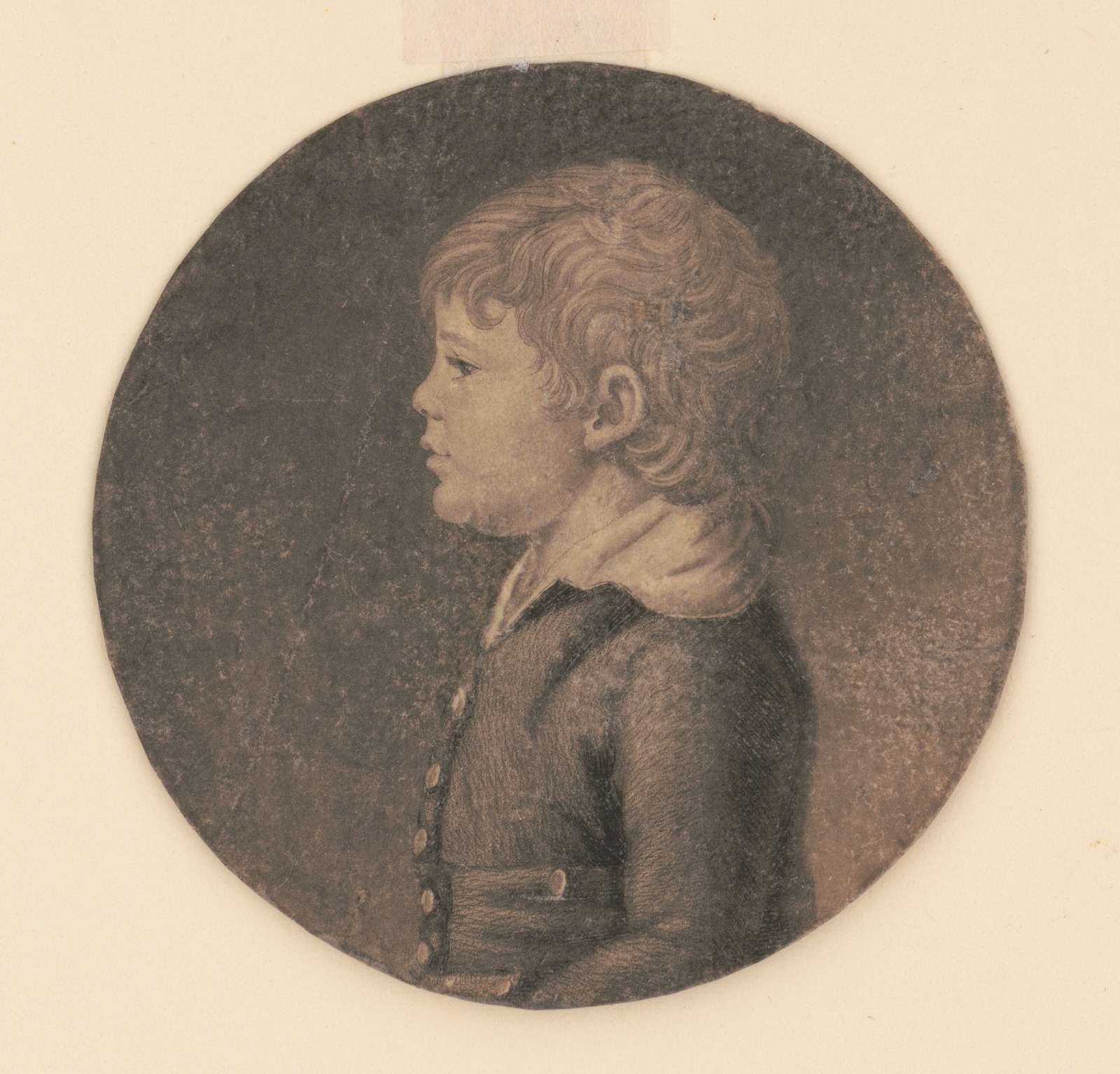 Edward Dutilh, head-and-shoulders portrait, left profile