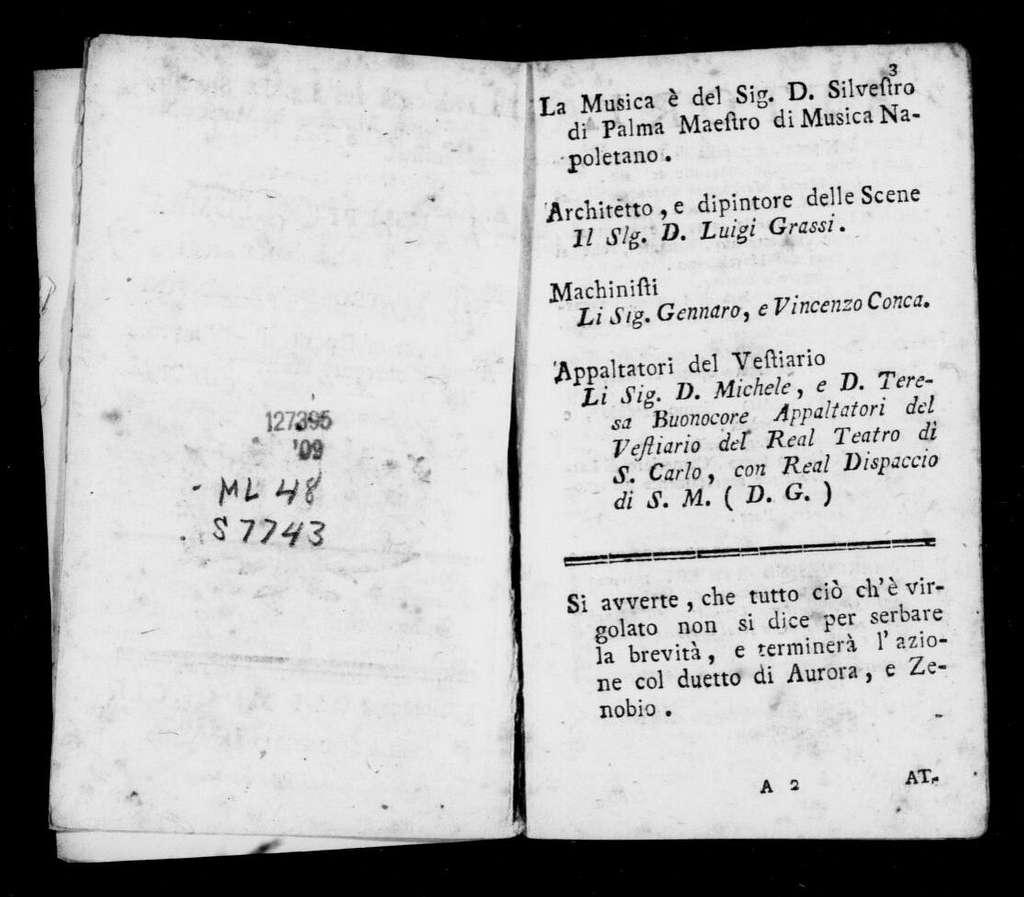 Pallone areostatico. Libretto. Italian