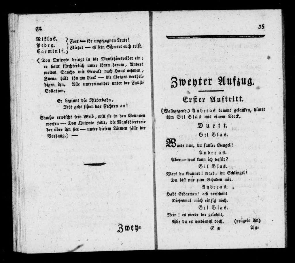 Ritter Don Quixote. Libretto. German