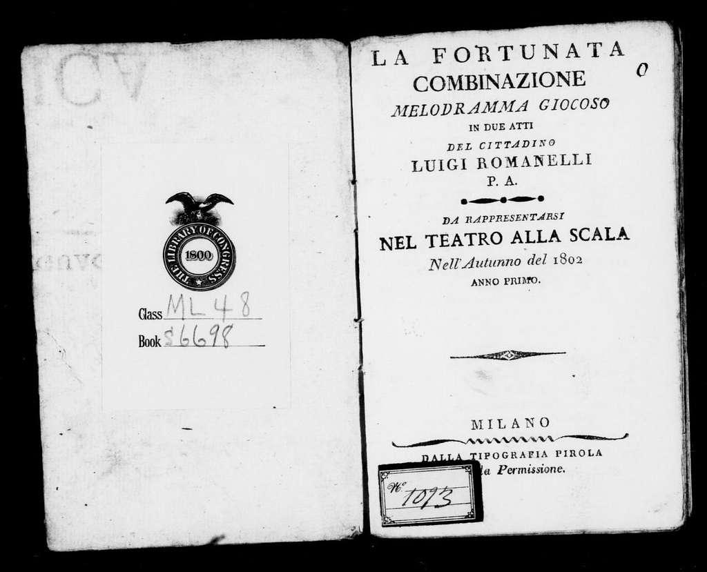 Sotterraneo, ossia, Caterina di Coluga (ballo tragico). Scenario. Scenario. Italian. 1802