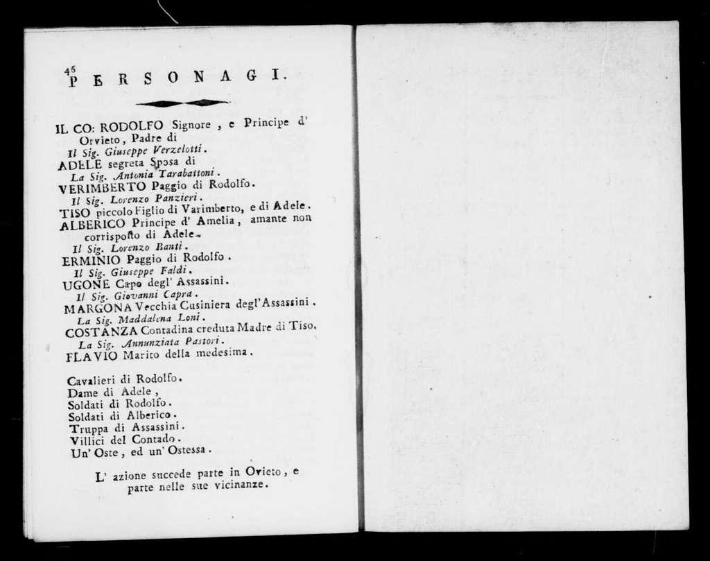 Caduta della nuova Cartagine. Libretto. Italian