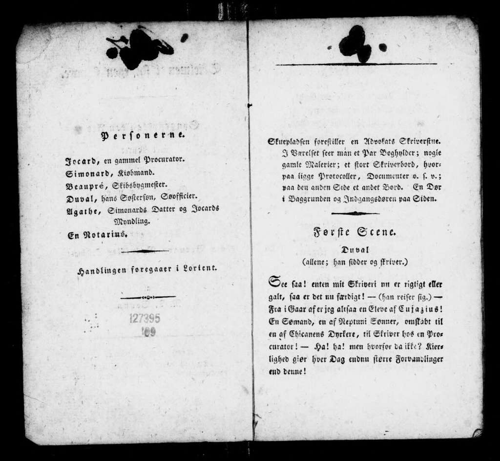 Trompeur trompé. Libretto. Danish