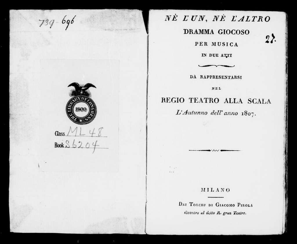 Amore ingannato (ballo). 1807