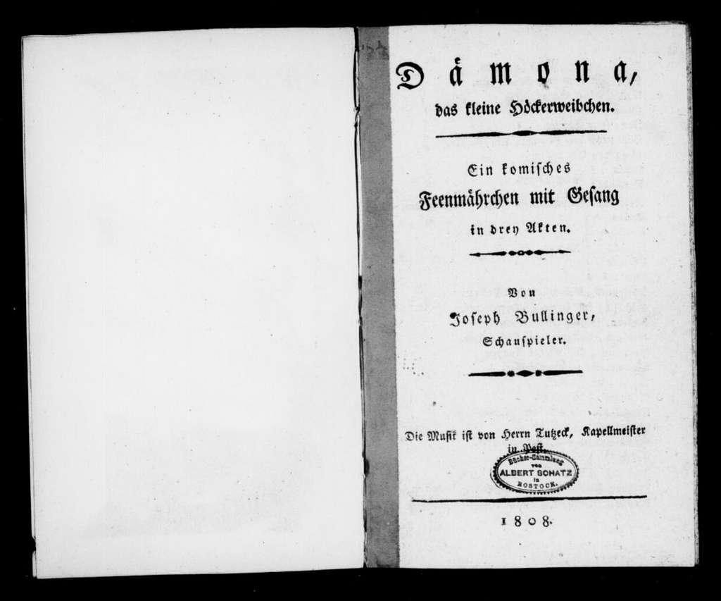 Dämona. Libretto. German