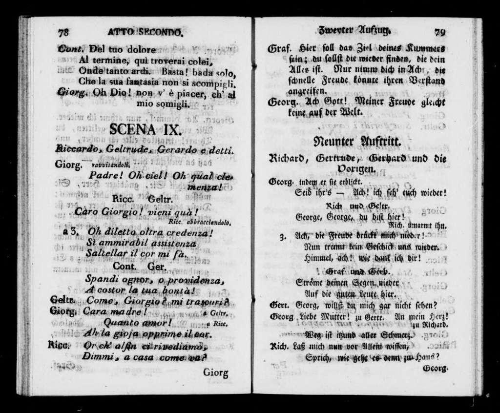 Schweizerfamilie. Libretto. German & Italian