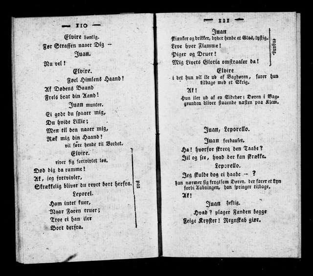 Don Giovanni. Libretto. Danish