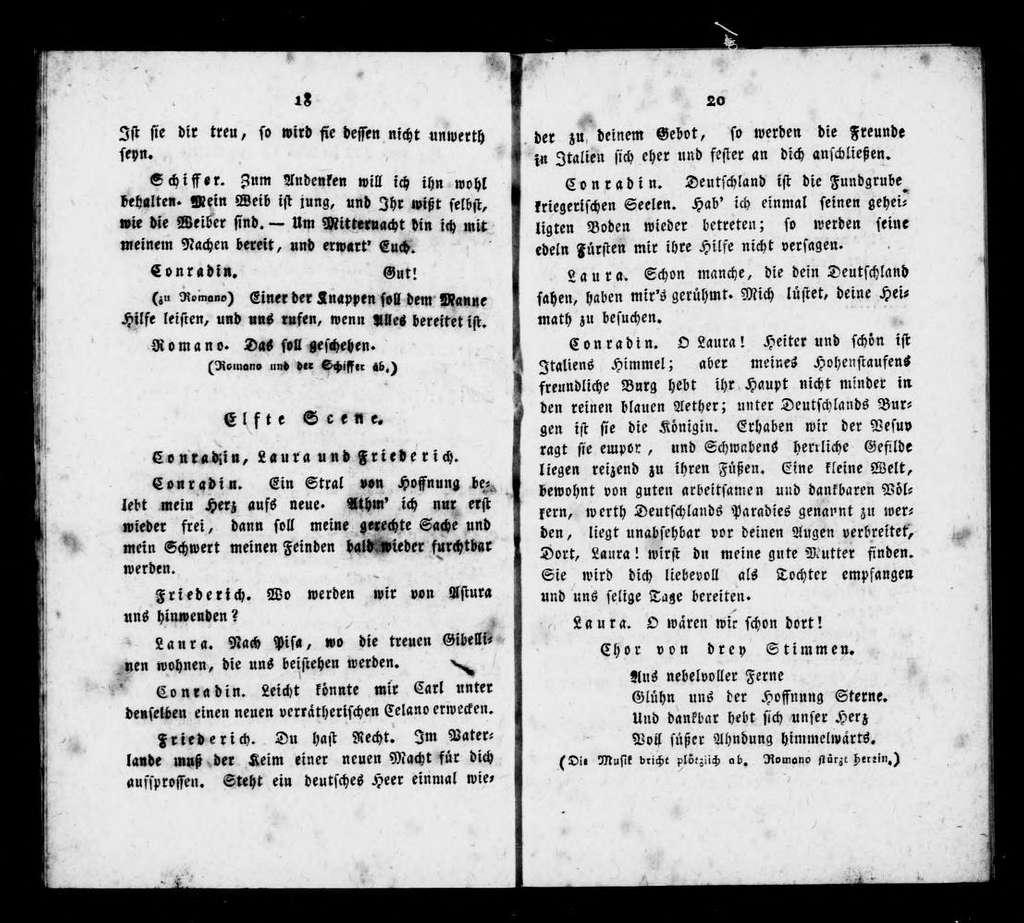 Konradin von Schwaben. Libretto. German