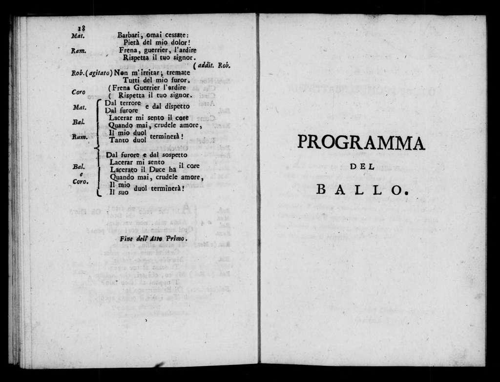 Cesare in Egitto (ballo eroico tragico pantomimo). Scenario. Scenario. Italian. 1816