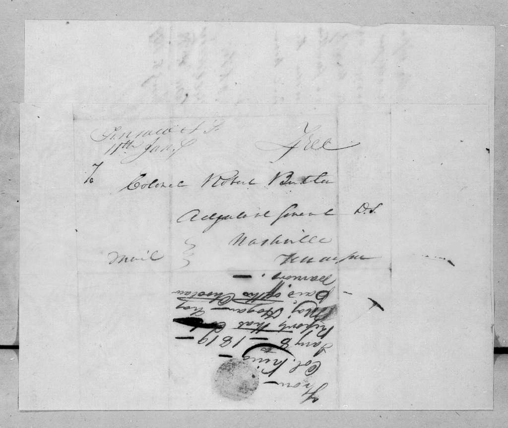 William King to Robert Butler, January 8, 1819