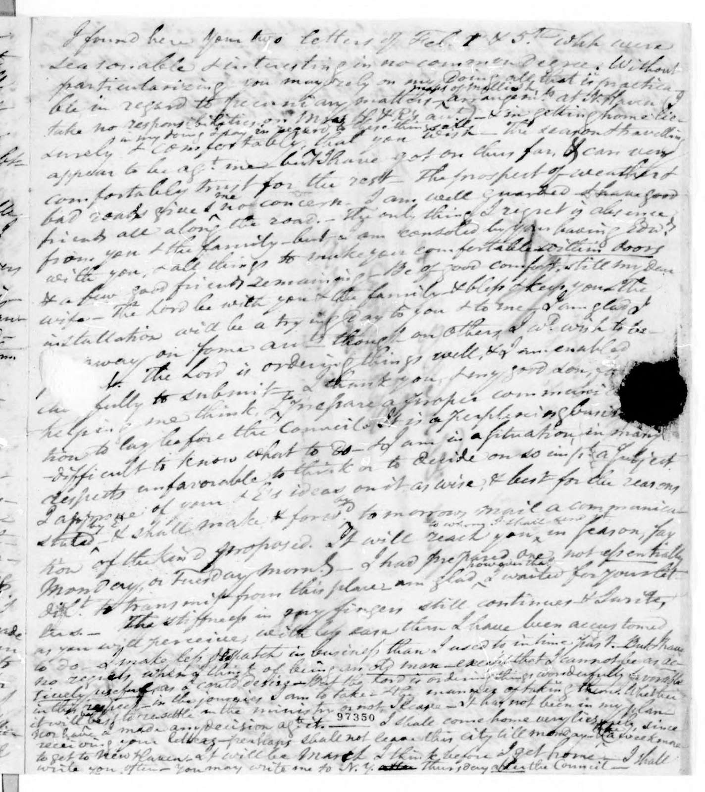 Bound volume---13 February 1820-21 January 1821