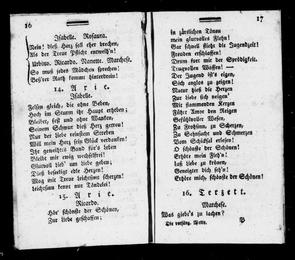 Così fan tutte. Libretto. German