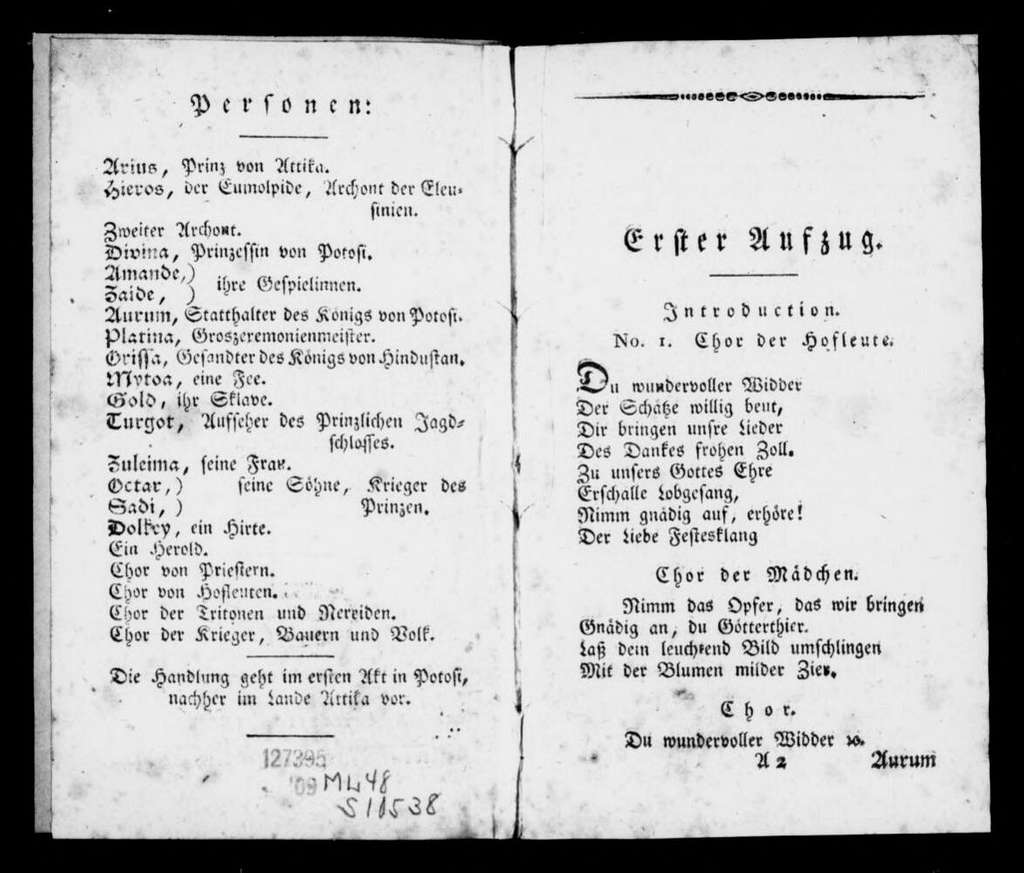 Goldene Widder. Libretto. German