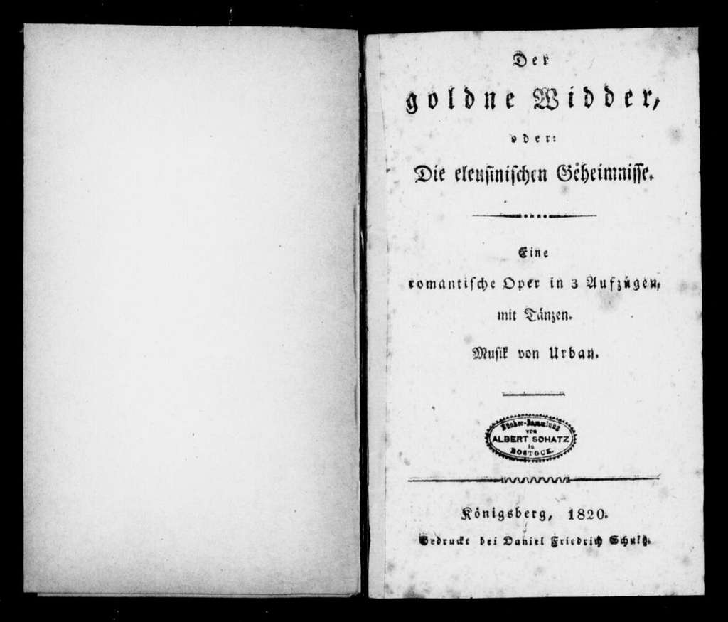 Goldene Widder. Libretto. German