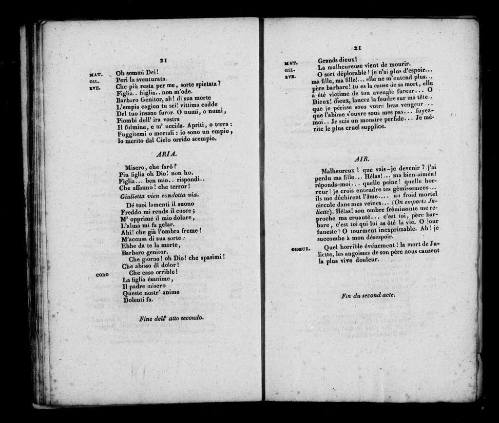 Giulietta e Romeo. Libretto. French & Italian