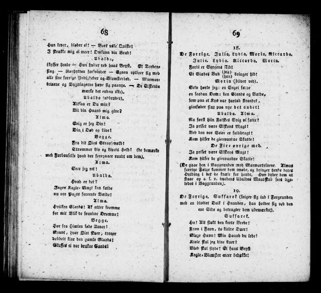Alma. Libretto. Danish