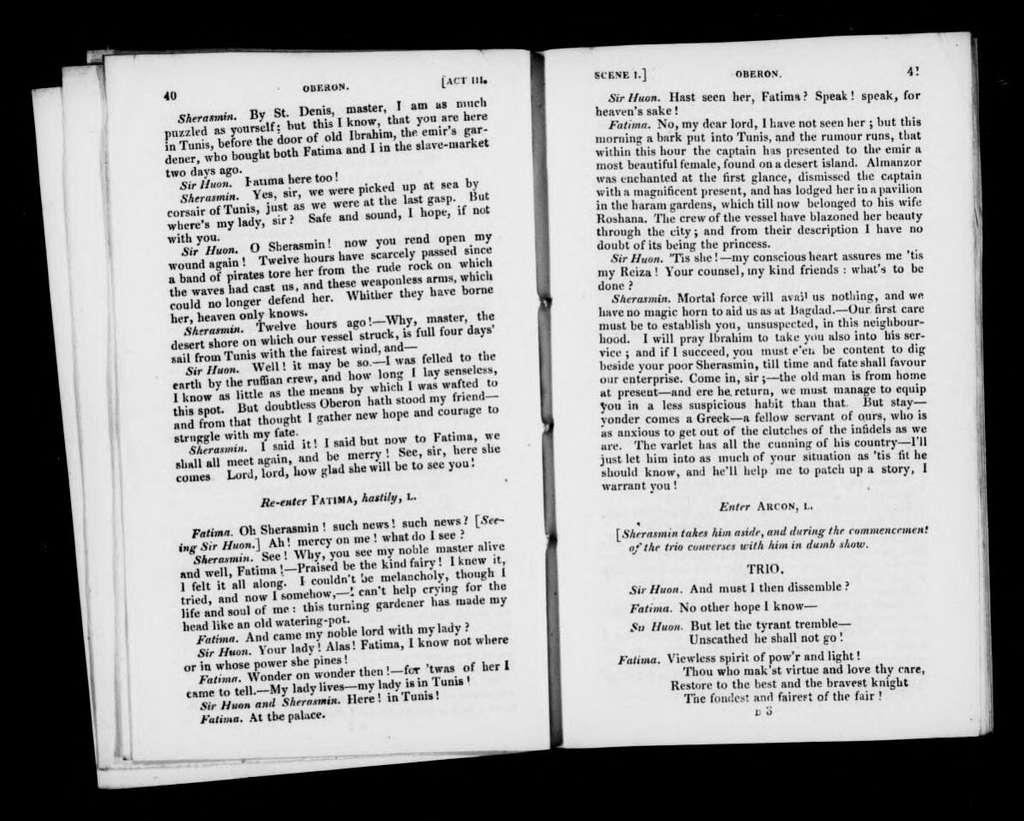 Oberon. Libretto. English