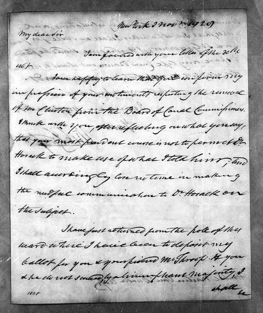 Martin Van Buren Papers: Series 2, General Correspondence, 1787-1868; 1828; 1828, Nov. - Dec