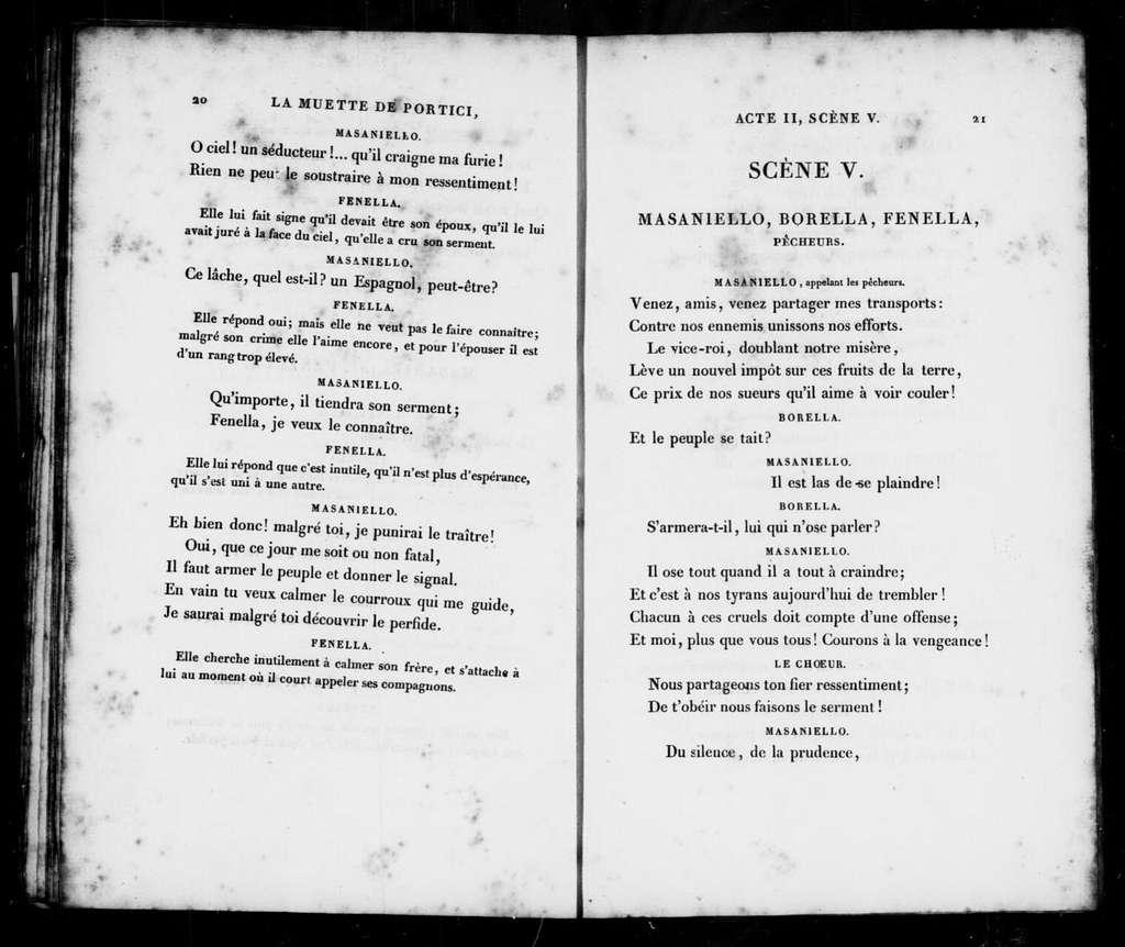 Muette de Portici. Libretto. French