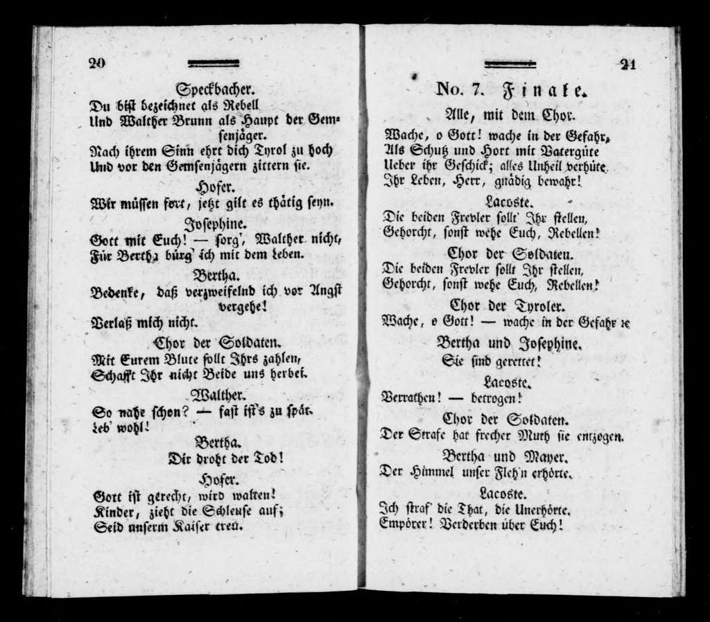 Guillaume Tell. Libretto. German
