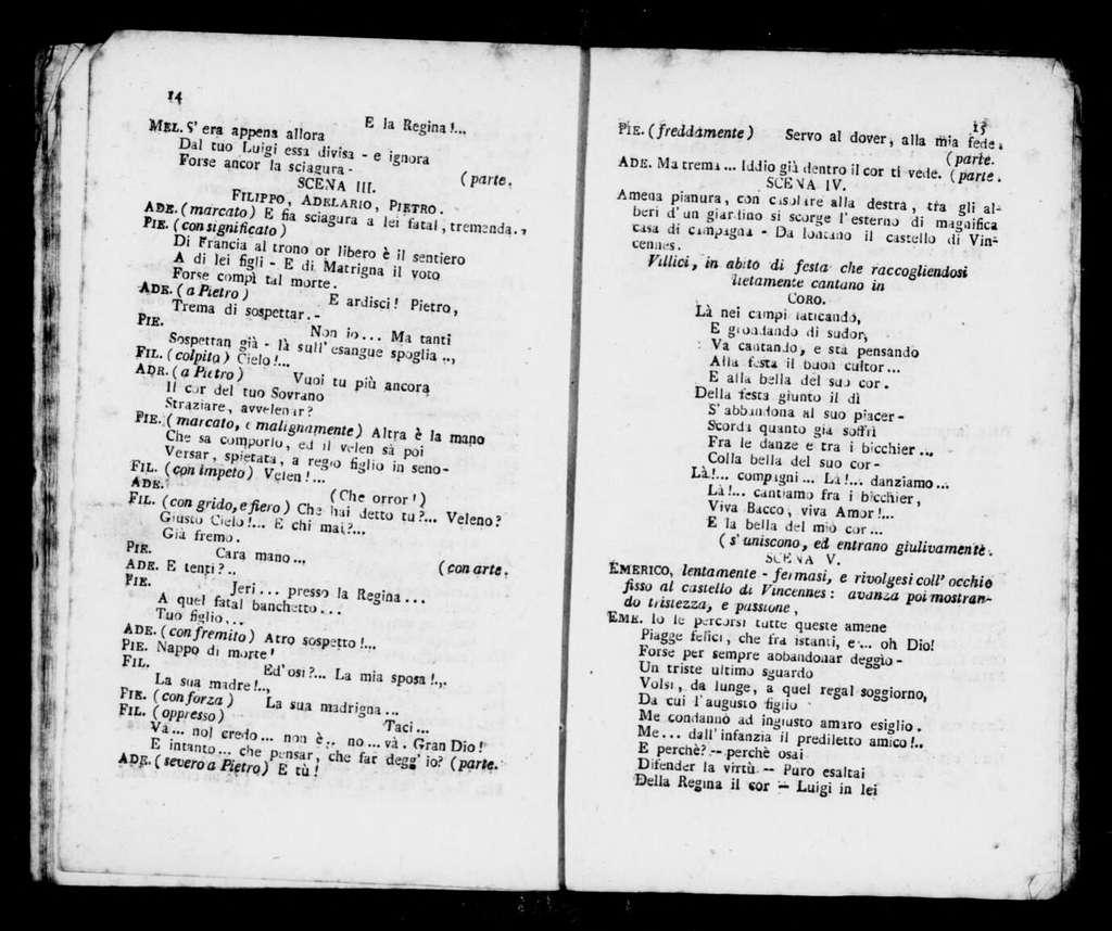 Maria di Brabante. Libretto. Italian