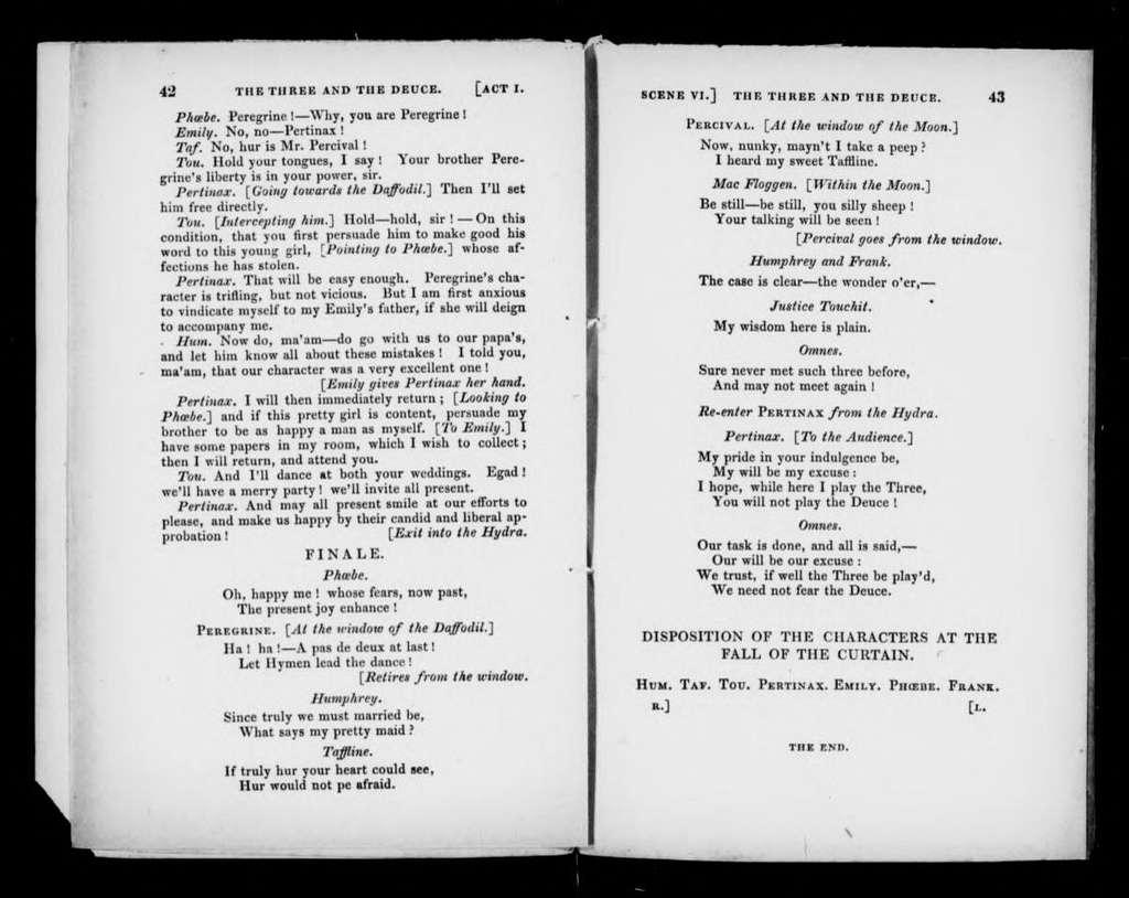 Three and the Deuce. Libretto. English
