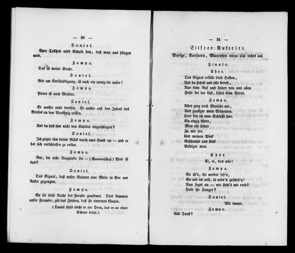 Zampa. Libretto. German