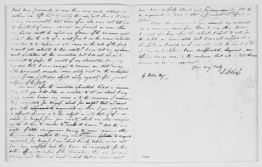 Gideon Welles Papers: Correspondence, 1820-1878; 1833, Jan.-Aug