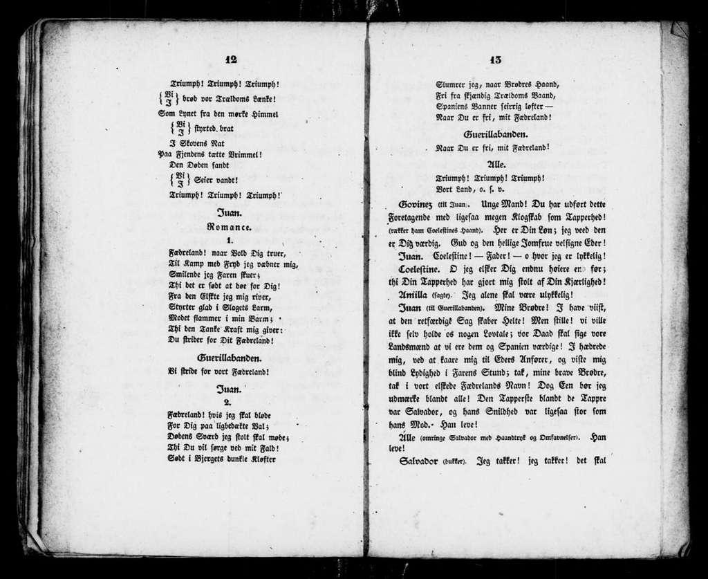Guerillabanden. Libretto. Danish