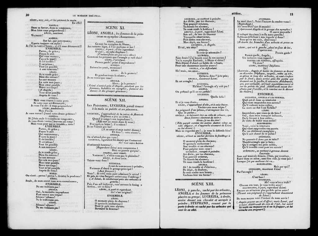 Actéon. Libretto. French