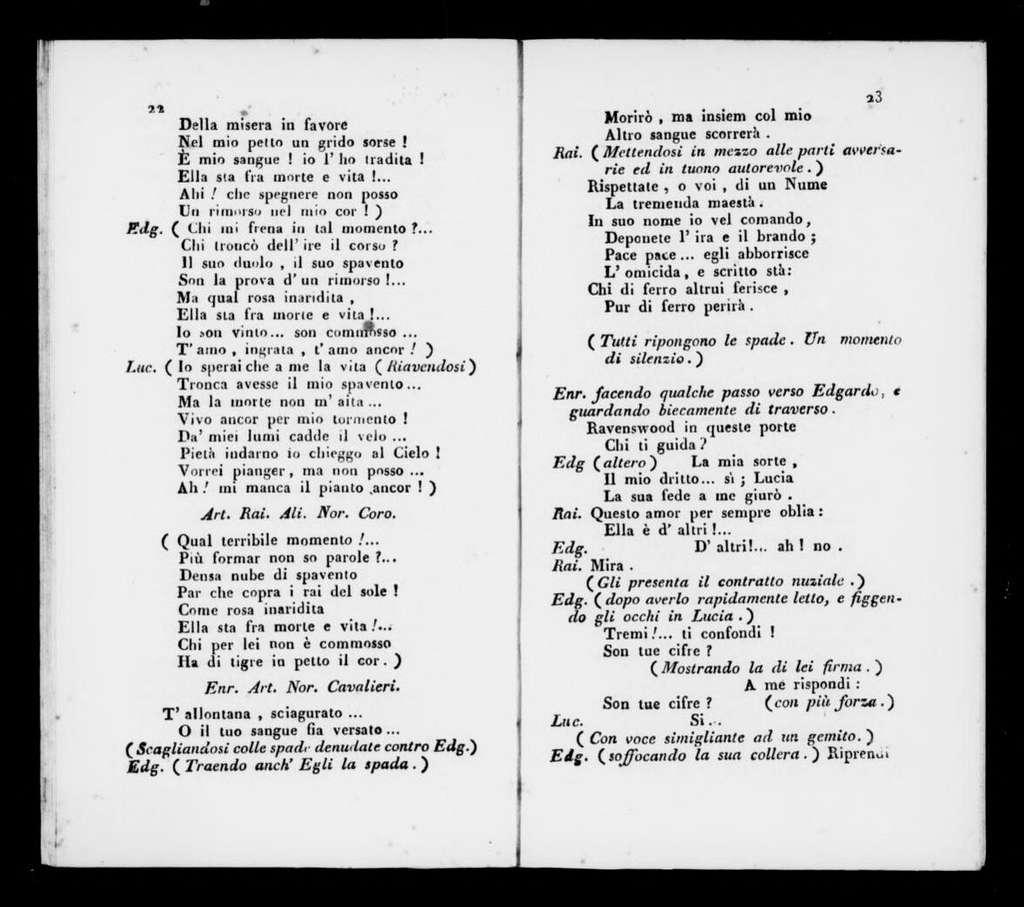 Lucia di Lammermoor. Libretto. Italian