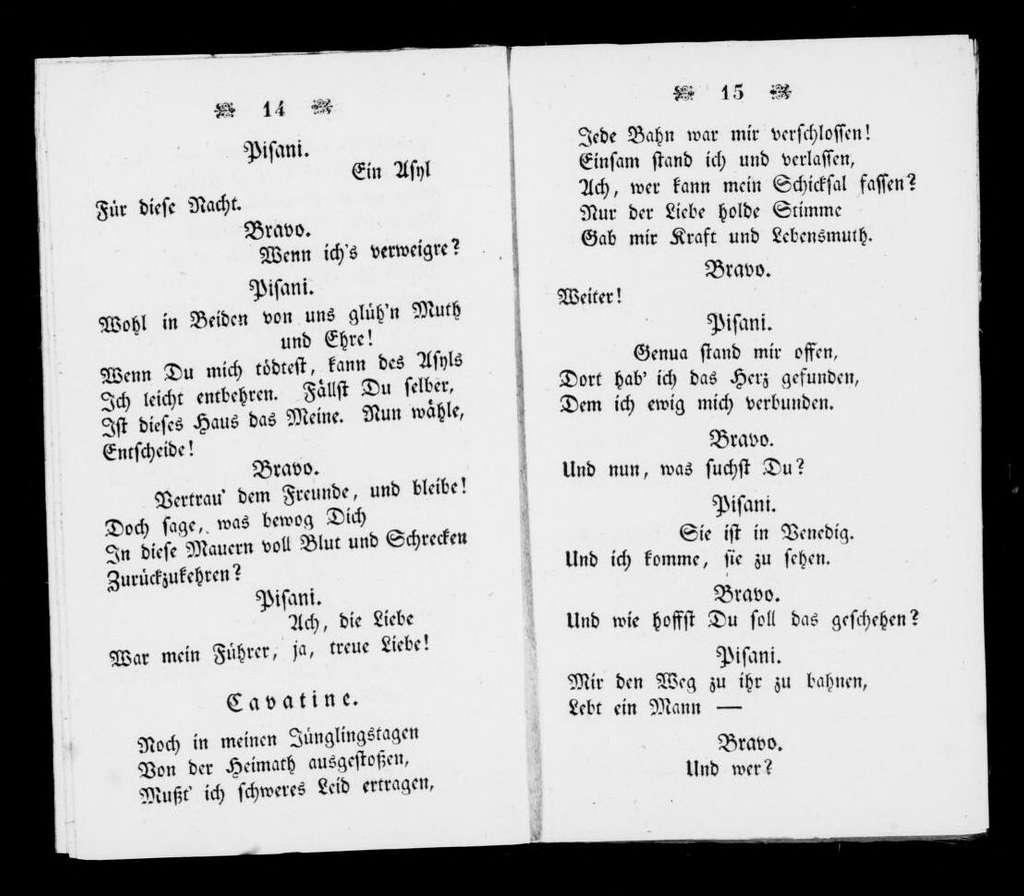 Bravo. Libretto. German