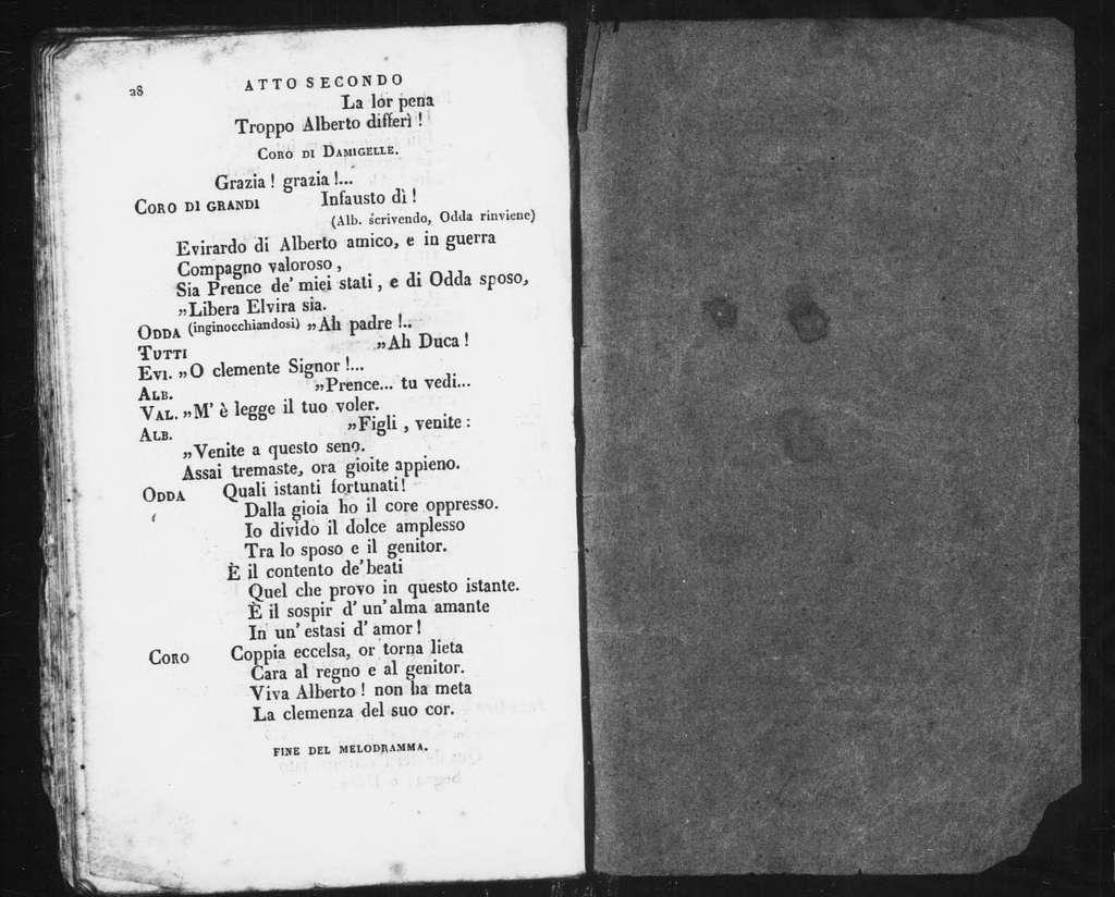 Odda di Bernaver. Libretto