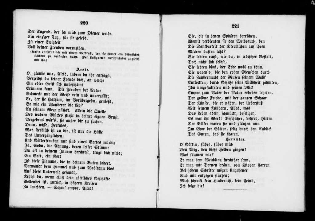 Wahl des Herkules. Libretto