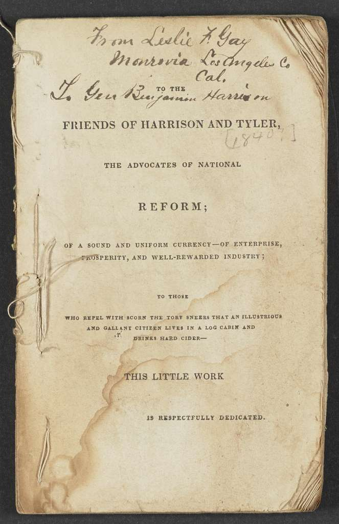 William Henry Harrison Papers: Series 4, Printed Matter, 1815-1922; Subseries B, Pamphlets Concerning Harrison; 1840 , 3 items