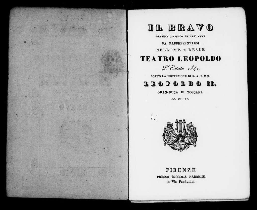 Bravo. Libretto. Italian