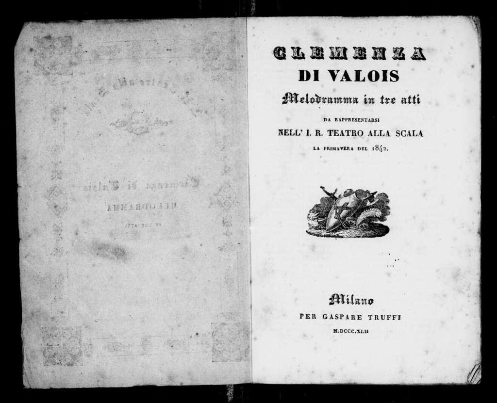 Clemenza di Valois. Libretto
