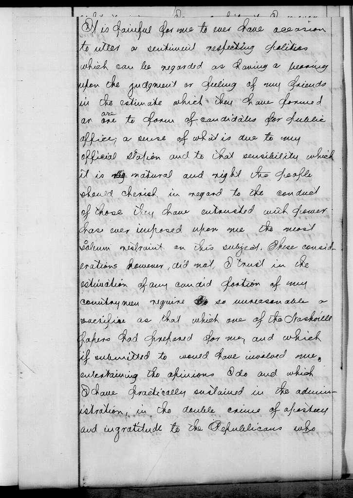 Andrew Jackson to Cave Johnson, February 9, 1843