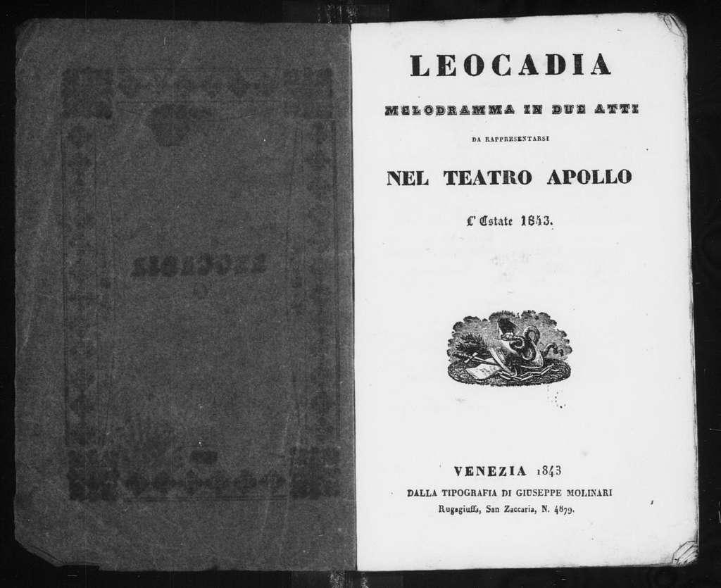 Leocadia. Libretto. Italian