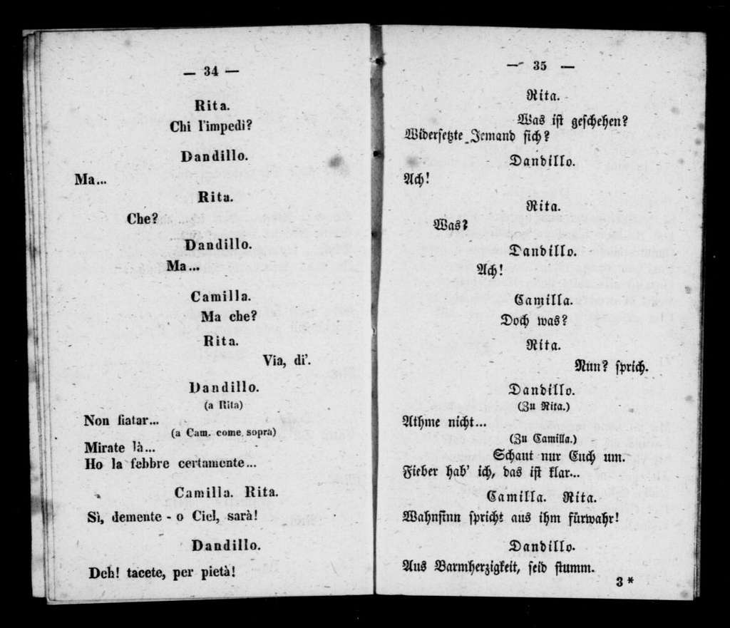 Zampa. Libretto. German & Italian