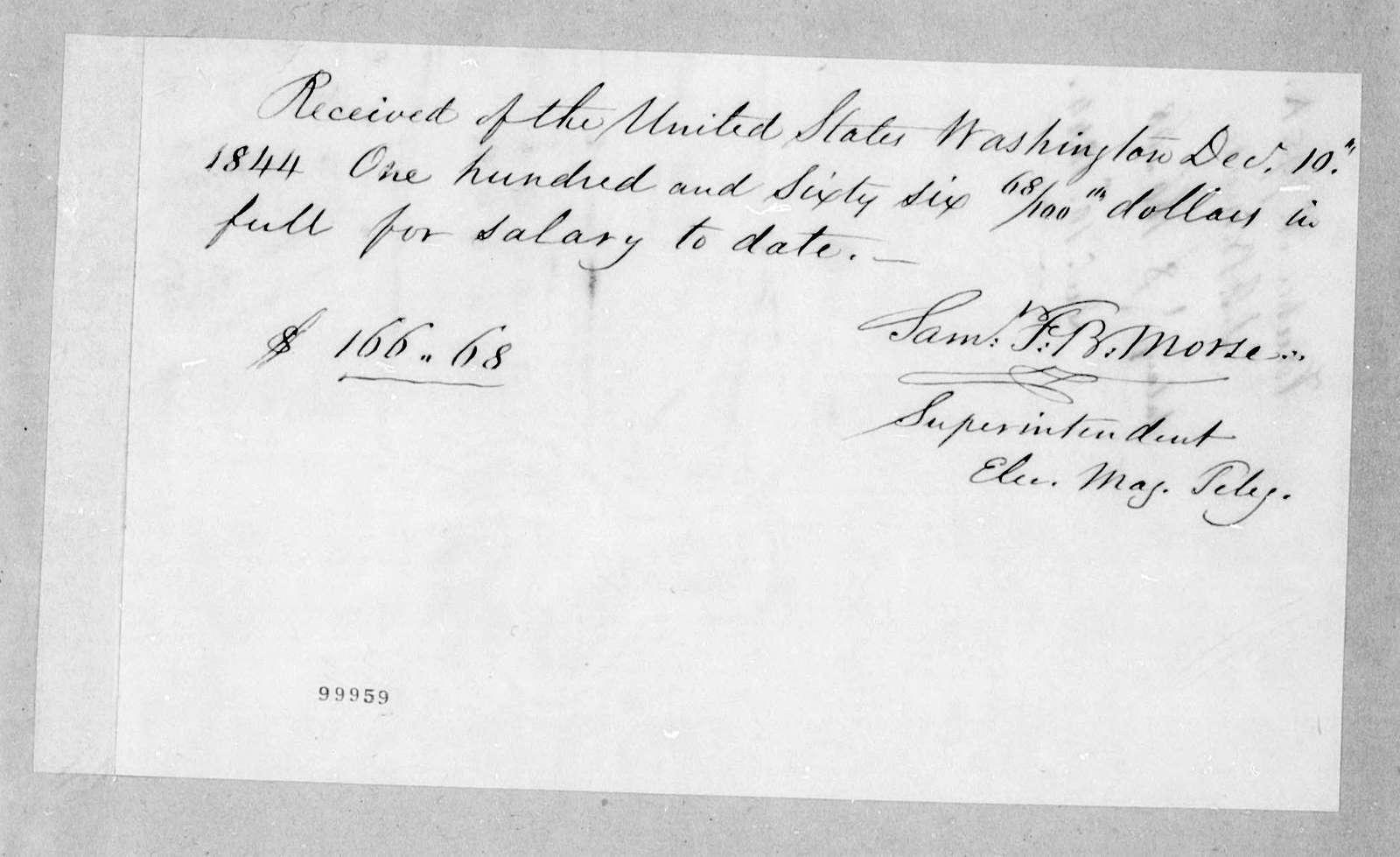 Bound volume---22 October 1844-1 March 1845