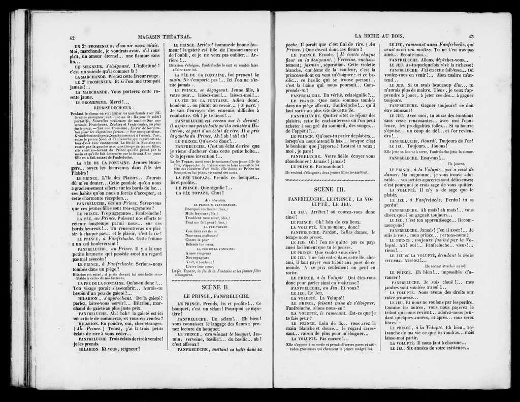 Biche au bois. Libretto. French