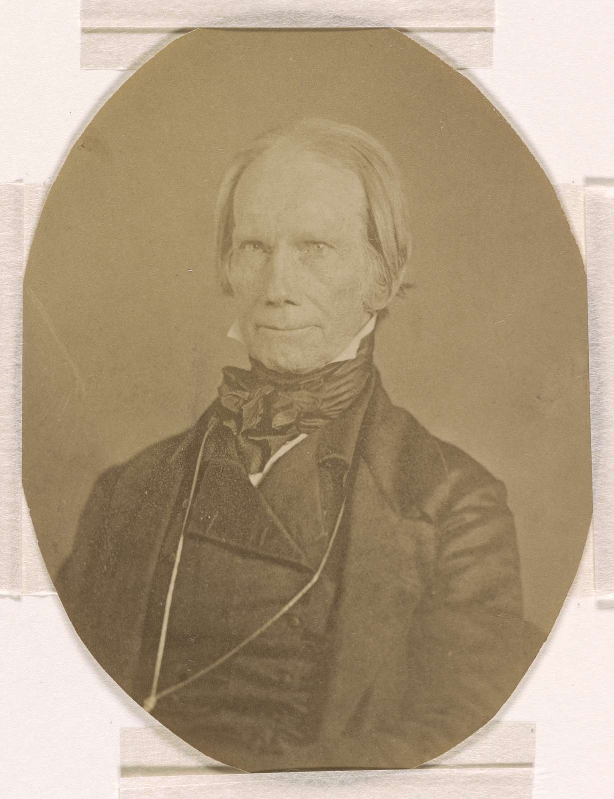 Henry Clay, head-and-shoulders length studio portrait, seated, facing front