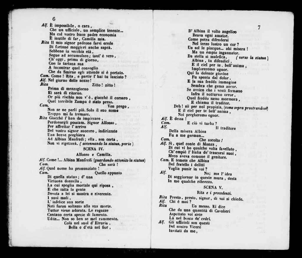 Zampa. Libretto. Italian