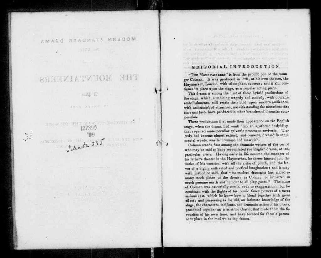 Mountaineers. Libretto. Libretto. English