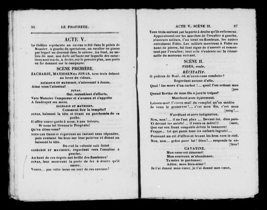 Prophète. Libretto. French