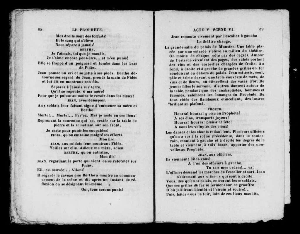 Prophète. Libretto. French