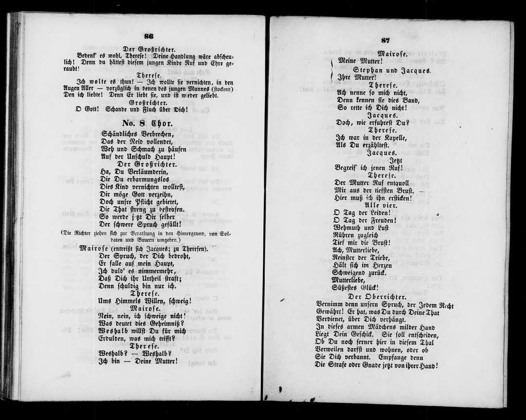 Val d'Andorre. Libretto. German