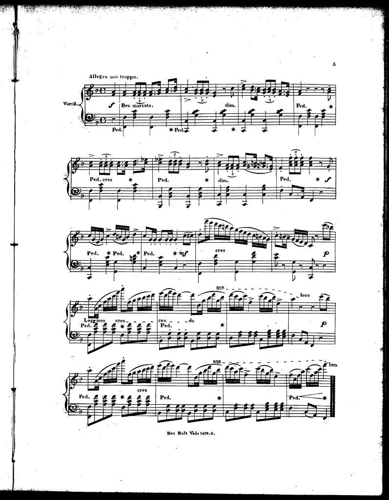 Ben Bolt, op. 151