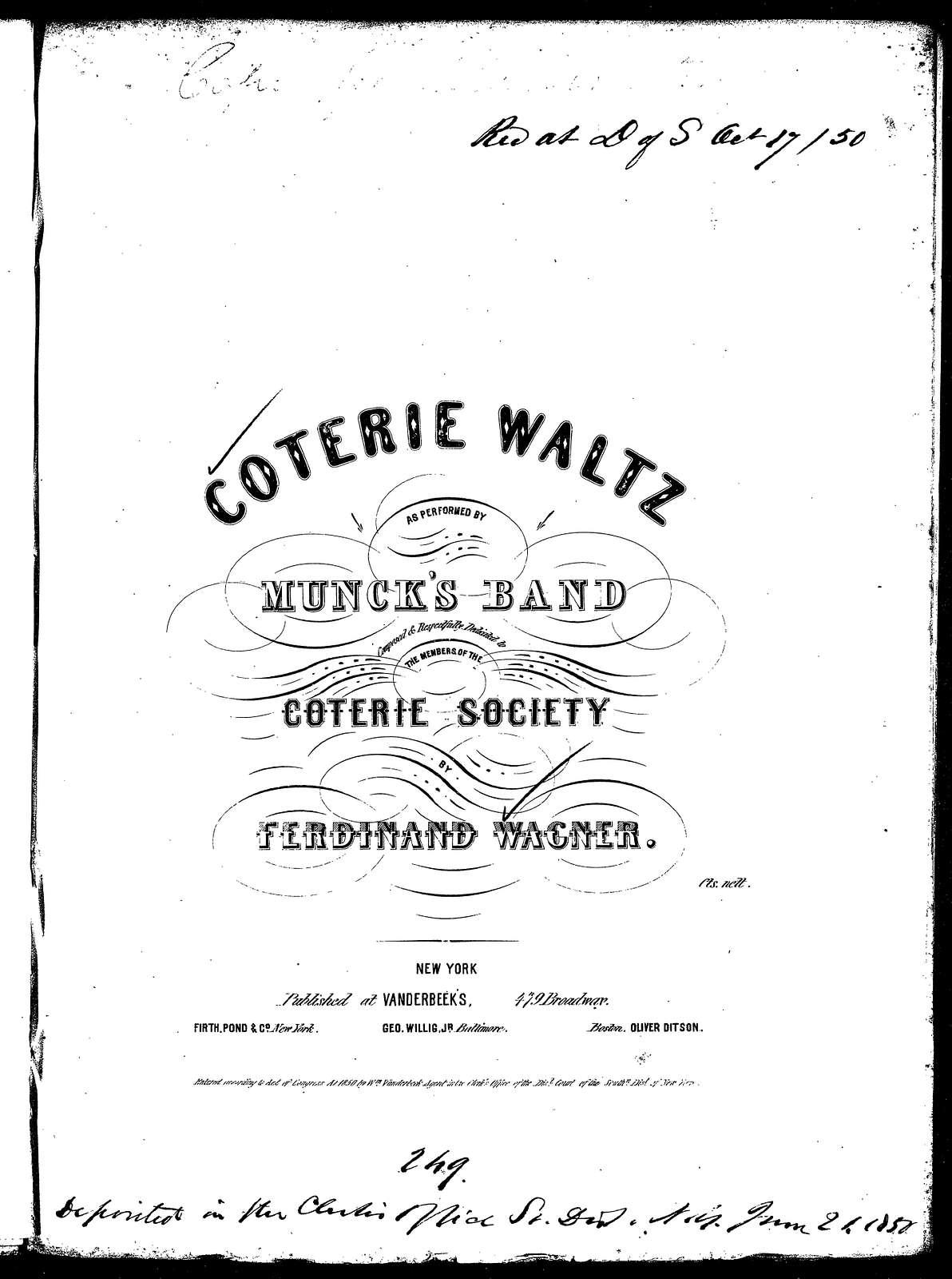 Coterie waltz