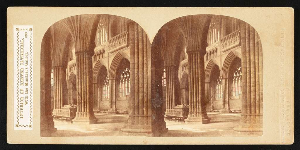 Interior of Exeter Cathedral, with the Minstrel's Gallery
